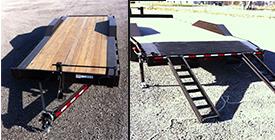 Flatbed Trailer 8x20, 14,000 lbs capacitiy from Eagle Trailer Company