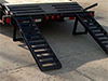 Flatbed Trailer Details: Cleated Dovetail, Fold-up Ramps - Eagle Trailer Company, Lawrence, Kansas