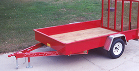 Flatbed, Tire Mounted, Aluminum with D-Rings style trailer from Eagle Trailer Company
