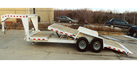 4' fixed platform and a 16' tilting bed, 16,000# GVW - Eagle Trailer Company, Lawrence, Kansas