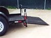 Low Profile Trailer Details: Extra Low Profile Trailer, Ramp and Gas Springs detail - Eagle Trailer Company, Lawrence, Kansas