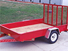 Utility Trailer Details: 4' Easi-lift Fold-up gate on Solid Sided Trailer - Eagle Trailer Company, Lawrence, Kansas